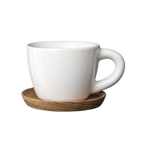 Höganäs Espressomuki Ja Aluslautanen 10 cl Valkoinen Kiiltävä