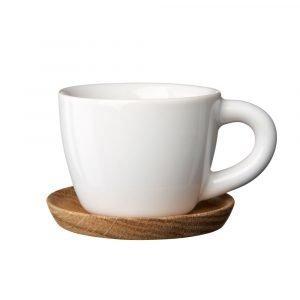 Höganäs Espressomuki Puulautasella Valkoinen 10 Cl