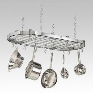 Hahn Kitchenware Hahn Premium ovaali Säilytysteline kattoon 102x50 cm Kromi