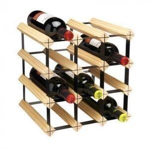 Hahn Kitchenware Metro Natural Wooden Wine Rack Kit - 12 Bottle