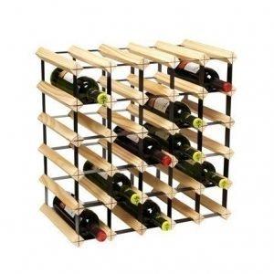 Hahn Kitchenware Metro Natural Wooden Wine Rack Kit - 30 Bottle