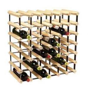 Hahn Kitchenware Metro Natural Wooden Wine Rack Kit - 42 Bottle