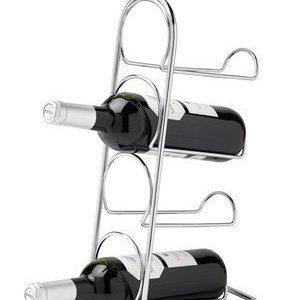 Hahn Kitchenware Pisa Wine Rack 4 Bottle - chrome Boxed