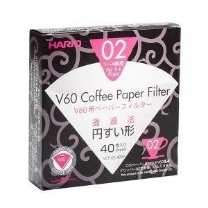 Hario V60 Suodatinpaperit 40 Kpl
