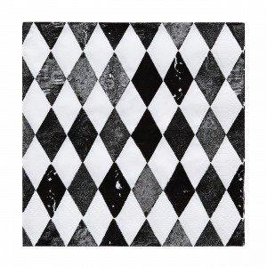 Harlequin Paperiservietit Musta
