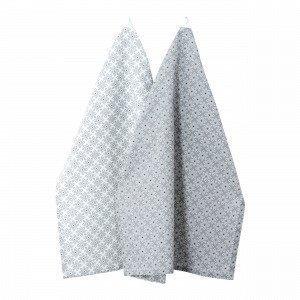 Hemtex Agda Kitchen Towel Keittiöpyyhe 2-Pakkaus Multi 50x70 Cm