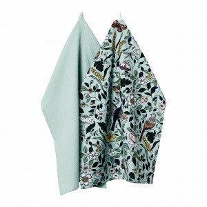 Hemtex Arabelle Kitchentowel Keittiöpyyhe 2-Pakkaus Monivärivihreä 50x70 Cm