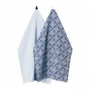 Hemtex Charlotte Kitchentowel Keittiöpyyhe 2-Pakkaus Sininen 50x70 Cm