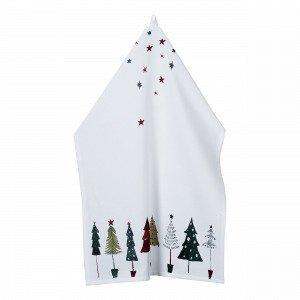 Hemtex Christmas Trees Keittiöpyyhe Multi 50x70 Cm