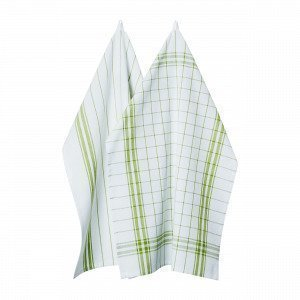 Hemtex Cilla Kitchentowel Keittiöpyyhe 2-Pakkaus Vihreä 50x70 Cm