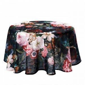 Hemtex Fiorenza Round Tablecloth Pöytäliina Pyöreä Monivärimusta 145 Cm