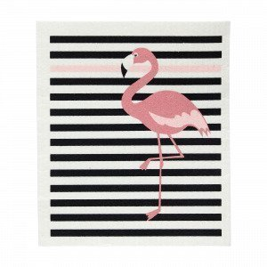 Hemtex Flamingo Dishtowel Astiapyyhe Roosa 20x17 Cm