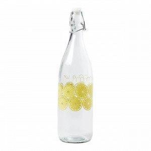 Hemtex Lemon Lasipullo Vaaleankeltainen