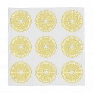 Hemtex Lemon Napkins Lautasliina Vaaleankeltainen 33x33 Cm