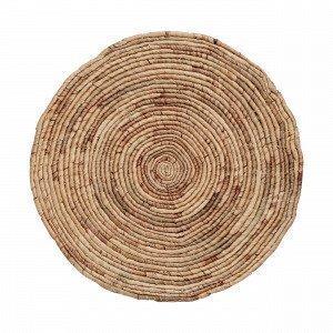Hemtex Maya Round Placemat Pöytätabletti Pyöreä Luonnonvalkoinen 38 Cm