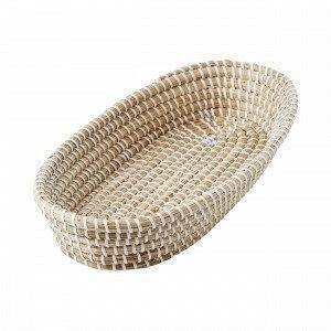 Hemtex Meriheinä Bread Basket Leipäkori Luonnonvalkoinen 23x42 Cm