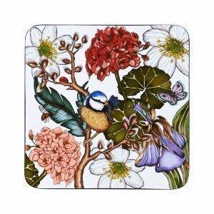 Hemtex + Nadja Wedin Willow Coasters Lasinalunen 4-Pakkaus Monivärivalkoinen 10x10 Cm