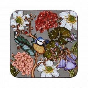 Hemtex + Nadja Wedin Willow Coasters Lasinalunen 4-Pakkaus Monivärivihreä 10x10 Cm