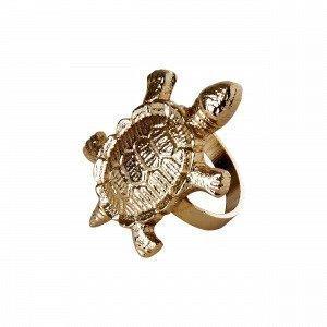 Hemtex Sköldpadda Servettirengas Kulta 5x5 Cm