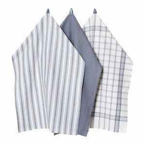 Hemtex Stina Kitchen Towel Keittiöpyyhe Harmaa 50x70 Cm
