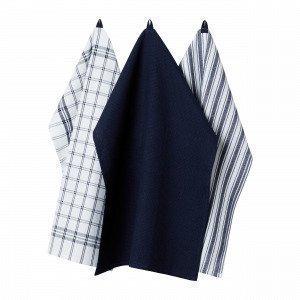 Hemtex Stina Kitchen Towel Keittiöpyyhe Mariininsininen 50x70 Cm