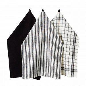 Hemtex Stina Kitchen Towel Keittiöpyyhe Musta 50x70 Cm