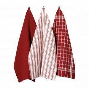 Hemtex Stina Kitchen Towel Keittiöpyyhe Punainen 50x70 Cm