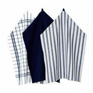 Hemtex Stina Kitchen Towel Keittiöpyyhe Tummansininen 50x70 Cm