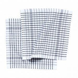 Hemtex Terry Dish Towel Astiapyyhe Harmaa 27x27 Cm