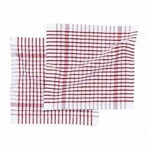Hemtex Terry Dish Towel Astiapyyhe Joulunpunainen 27x27 Cm