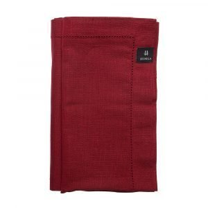 Himla Ebba Servetti Deep Red 50x50 Cm 2-Pakkaus