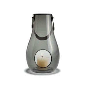 Holmegaard Design With Light Kynttilälyhty Lasi Savunharmaa 29 Cm
