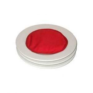 Hot Ideas Lautasen Lämmitin Mikroaaltouuniin Punainen 4 Kpl