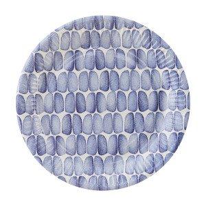House Doctor Braid Paperilautanen Sinivalkoinen 23 Cm 12 Kpl