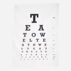 House Doctor Keittiöpyyhe Eye test 50x70 cm