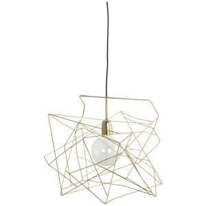 House Doctor Lamppu Shade Asymmetric Kulta 45x45 Cm