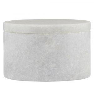House Doctor Marble Säilytyspurkki Valkoinen 10 Cm