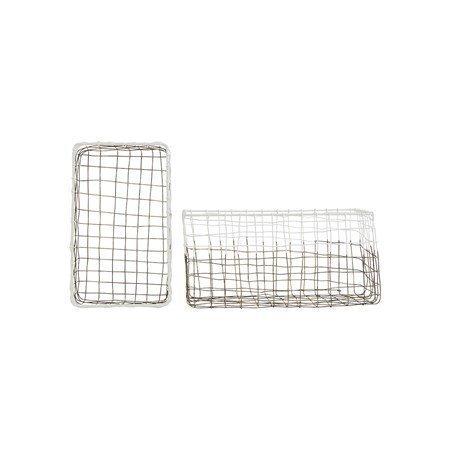 House Doctor Postin säilytyskori 2-pack Metalli/Valkoinen 30x17 cm
