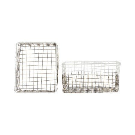 House Doctor Postin säilytyskori 2-pack Metalli/Valkoinen 30x25 cm