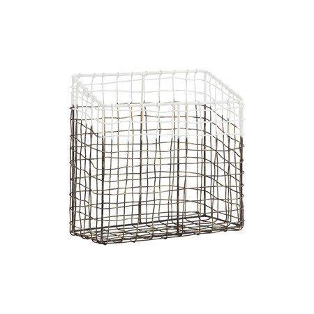 House Doctor Postin säilytyskori Metalli/Valkoinen 25x12 cm