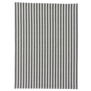 House Doctor Stripe Pyyheliina Harmaa / Musta 50x70 Cm