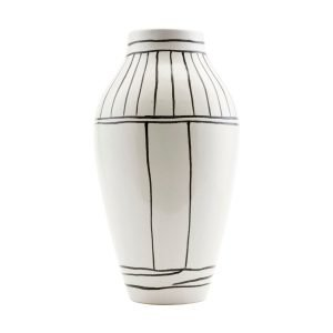 House Doctor Vase Outline White 14x26 Cm