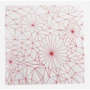 House Doctor kuviollinen lautasliina punainen