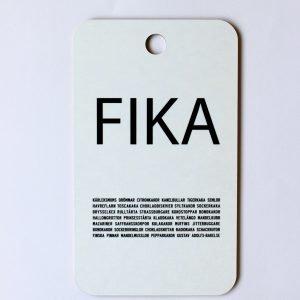 I Love Design Fika Leikkuulauta Musta / Valkoinen