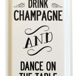 I Love Design Tarjotin Champagne Valkoinen