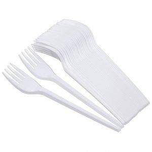 Iisi Muovihaarukka Valkoinen 25 Kpl