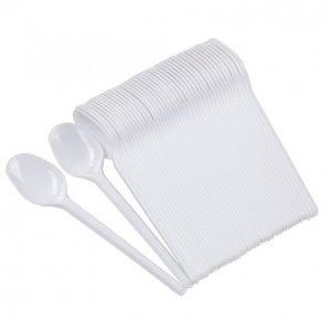 Iisi Muovikahvilusikka Valkoinen 50 Kpl