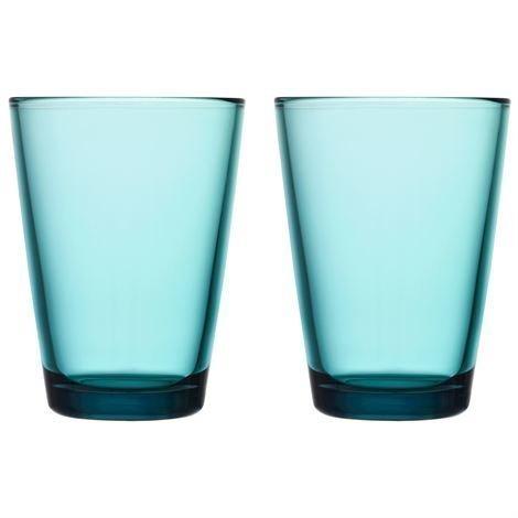 Iittala Kartio Juomalasi 40 cl 2 kpl Merensininen