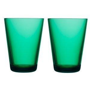 Iittala Kartio Lasi Smaragdi Vihreä 2 Kpl