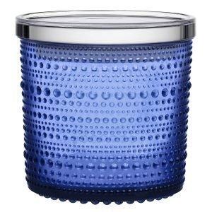 Iittala Kastehelmi Purkki Ultramarine Sininen 11